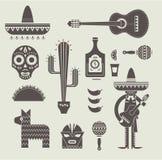 Εικονίδια του Μεξικού ελεύθερη απεικόνιση δικαιώματος