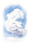 Απεικόνιση Watercolor ενός σύννεφου Στοκ Εικόνες