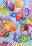 Απεικόνιση watercolor θαλασσινών κοχυλιών Στοκ Εικόνες