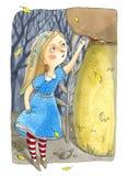 Απεικόνιση Watercolor που απομονώνεται στο άσπρο υπόβαθρο Αφηρημένες ανασκοπήσεις φαντασίας με το μαγικό βιβλίο Στοκ Εικόνες