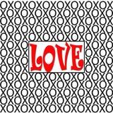 Απεικόνιση XOs αγάπης Διανυσματική απεικόνιση