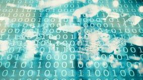 Απειλές Cyber στο νέο κυβερνοχώρο, ψηφιακός κόσμος Στοκ Εικόνες