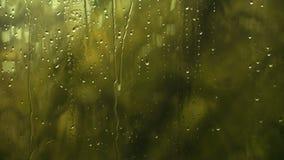 Απελευθερώσεις στο παράθυρο Πτώση βροχής στο παράθυρο βροχή γυαλιού φιλμ μικρού μήκους
