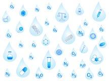 απελευθερώσεις χημεία διανυσματική απεικόνιση