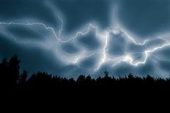 Απεργία αστραπής στον ουρανό Στοκ Εικόνες
