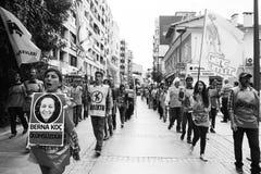 Απεργία για τις εκρήξεις βομβών συνάθροισης ειρήνης της Άγκυρας Στοκ φωτογραφίες με δικαίωμα ελεύθερης χρήσης