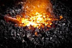 Απεργία ενώ του σιδήρου καυτού Στοκ εικόνες με δικαίωμα ελεύθερης χρήσης