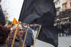 Απεργία στην Ελλάδα Στοκ φωτογραφία με δικαίωμα ελεύθερης χρήσης
