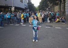 Απεργία στη Βαρκελώνη Στοκ φωτογραφία με δικαίωμα ελεύθερης χρήσης