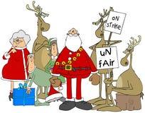 Απεργία ταράνδων στο βόρειο πόλο απεικόνιση αποθεμάτων