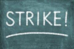 Απεργία στοκ φωτογραφία