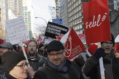 Απεργίες δημόσιου τομέα του Κεμπέκ Στοκ Εικόνες