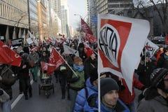 Απεργίες δημόσιου τομέα του Κεμπέκ Στοκ φωτογραφίες με δικαίωμα ελεύθερης χρήσης