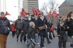 Απεργίες δημόσιου τομέα του Κεμπέκ Στοκ εικόνες με δικαίωμα ελεύθερης χρήσης