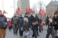 Απεργίες δημόσιου τομέα του Κεμπέκ Στοκ Φωτογραφίες