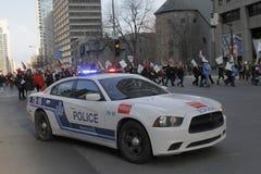 Απεργίες δημόσιου τομέα του Κεμπέκ Στοκ φωτογραφία με δικαίωμα ελεύθερης χρήσης