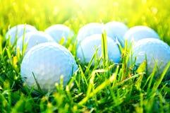 απεργίες παικτών γκολφ παιχνιδιών σφαιρών Στοκ Εικόνα
