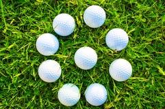 απεργίες παικτών γκολφ παιχνιδιών σφαιρών Στοκ Εικόνες
