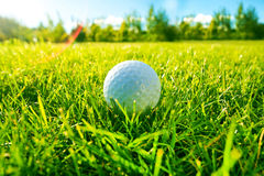 απεργίες παικτών γκολφ παιχνιδιών σφαιρών Στοκ φωτογραφία με δικαίωμα ελεύθερης χρήσης