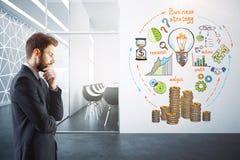 απεργός στρατηγικής εκμετάλλευσης χεριών έννοιας επιχειρησιακών επιχειρηματιών μπέιζ-μπώλ Στοκ Εικόνες