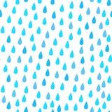 Απελευθερώσεις βροχής άνευ ραφής διάνυσμα προτύπ&omeg αφηρημένο μπλε λευκό ελεύθερη απεικόνιση δικαιώματος