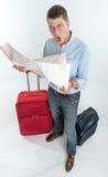 Απελπισμένος ταξιδιώτης στοκ φωτογραφίες με δικαίωμα ελεύθερης χρήσης