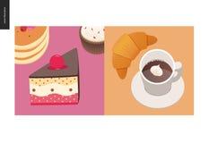 Απλά πράγματα - γεύμα διανυσματική απεικόνιση