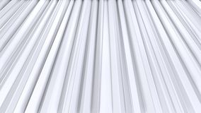 Απλές χαμηλές πολυ τρισδιάστατες κουρτίνες ως περιβάλλον φαντασίας Μαλακό γεωμετρικό χαμηλό πολυ υπόβαθρο των καθαρών άσπρων γκρί απεικόνιση αποθεμάτων