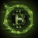 Απλή απεικόνιση έννοιας Bitcoin Στοκ εικόνα με δικαίωμα ελεύθερης χρήσης