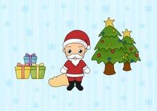 Απλή απεικόνιση χαριτωμένου Santa απεικόνιση αποθεμάτων