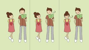 Απλή ιστορία της αγάπης από Pitripiter διανυσματική απεικόνιση