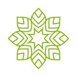 Απλή μορφή Mandala ΛΟΓΟΤΥΠΟ ελεύθερη απεικόνιση δικαιώματος