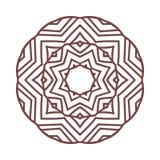 Απλή μορφή Mandala ΛΟΓΟΤΥΠΟ απεικόνιση αποθεμάτων