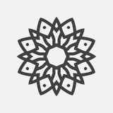 Απλή μορφή Mandala ΛΟΓΟΤΥΠΟ διανυσματική απεικόνιση
