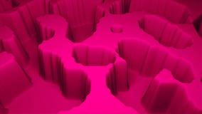 Απλή πρότυπη, τρισδιάστατη απόδοση επιφάνειας εκτάσεων σύγχρονη τρισδιάστατη, υπολογιστής που παράγει το υπόβαθρο διανυσματική απεικόνιση