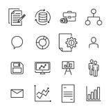 Απλή συλλογή σχετικών με των την ομαδική εργασία εικονιδίων γραμμών Στοκ εικόνα με δικαίωμα ελεύθερης χρήσης
