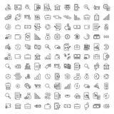 Απλή συλλογή σχετικών με των τις τραπεζικές εργασίες εικονιδίων γραμμών στοκ εικόνα με δικαίωμα ελεύθερης χρήσης