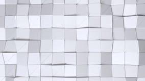 Απλή χαμηλή πολυ τρισδιάστατη επιφάνεια ως ζωηρό περιβάλλον Μαλακό γεωμετρικό χαμηλό πολυ υπόβαθρο των καθαρών άσπρων γκρίζων πολ διανυσματική απεικόνιση