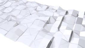 Απλή χαμηλή πολυ τρισδιάστατη επιφάνεια ως κομψό περιβάλλον Μαλακό γεωμετρικό χαμηλό πολυ υπόβαθρο των καθαρών άσπρων γκρίζων πολ διανυσματική απεικόνιση