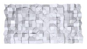 Απλή χαμηλή πολυ τρισδιάστατη επιφάνεια ως περιβάλλον Μαλακό γεωμετρικό χαμηλό πολυ υπόβαθρο των καθαρών άσπρων γκρίζων πολυγώνων ελεύθερη απεικόνιση δικαιώματος