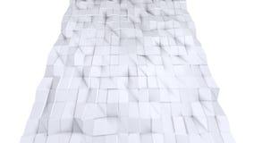 Απλή χαμηλή πολυ τρισδιάστατη επιφάνεια ως φουτουριστικό περιβάλλον Μαλακό γεωμετρικό χαμηλό πολυ υπόβαθρο των καθαρών άσπρων γκρ διανυσματική απεικόνιση
