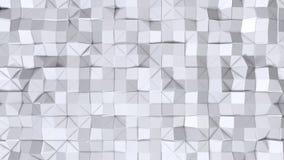Απλή χαμηλή πολυ τρισδιάστατη επιφάνεια ως fractal περιβάλλον Μαλακό γεωμετρικό χαμηλό πολυ υπόβαθρο των καθαρών άσπρων γκρίζων π διανυσματική απεικόνιση