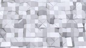 Απλή χαμηλή πολυ τρισδιάστατη επιφάνεια όπως περιβάλλον Μαλακό γεωμετρικό χαμηλό πολυ υπόβαθρο των καθαρών άσπρων γκρίζων πολυγών απεικόνιση αποθεμάτων