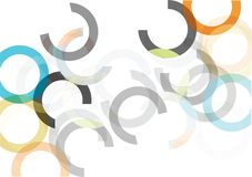 Απλοί διανυσματικοί ζωηρόχρωμοι κύκλοι που απομονώνονται στο άσπρο υπόβαθρο Στοκ Εικόνα