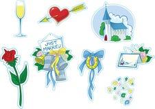 απλός γάμος 2 εικονιδίων Στοκ φωτογραφία με δικαίωμα ελεύθερης χρήσης
