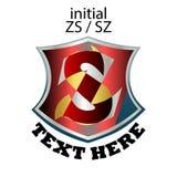 Απλός κομψός αρχικός τύπος ZS ή SZ επιστολών ελεύθερη απεικόνιση δικαιώματος