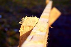 Απλός ξύλινος φράκτης στοκ φωτογραφία