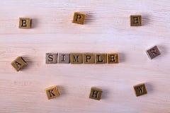 Απλός φραγμός μετάλλων λέξης στοκ εικόνα με δικαίωμα ελεύθερης χρήσης