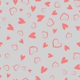 Απλό άνευ ραφής διανυσματικό σχέδιο καρδιών Ανασκόπηση ημέρας βαλεντίνων Επίπεδη ατελείωτη χαοτική σύσταση σχεδίου φιαγμένη από μ ελεύθερη απεικόνιση δικαιώματος