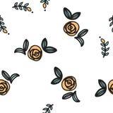 Απλό άνευ ραφής διανυσματικό σχέδιο λουλουδιών Στοκ Εικόνα